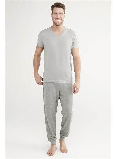 Penti Çok Renkli Grey V-Yakalı Pantolon Takımı Renkli
